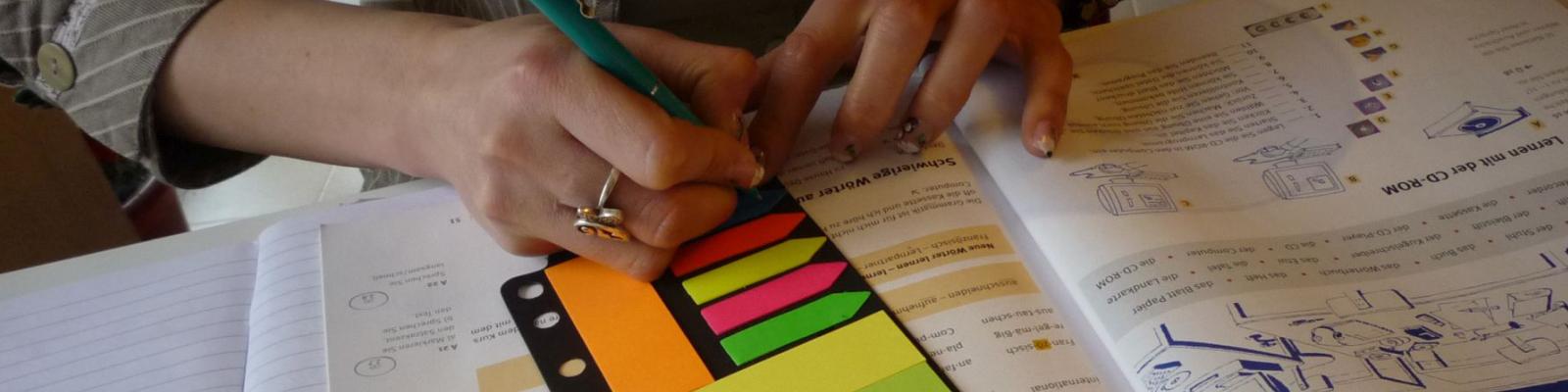 Germana colorată - lucru de vocabular cu suport vizual